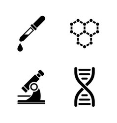 laboratory simple related icons vector image vector image