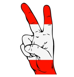 Peace Sign of the Austrian flag vector image