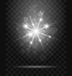shining star on transparent background vector image vector image