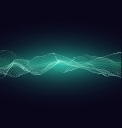 abstract sound energy wave with dynamic particles vector image