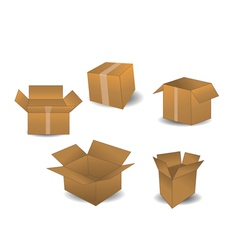 boxes isolated on white vector image vector image