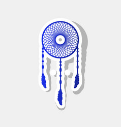 dream catcher sign new year bluish icon vector image vector image