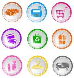 shopping icons small vector image vector image