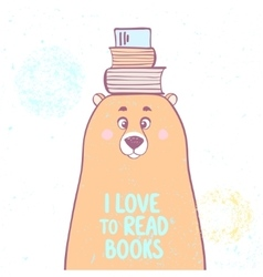 bear and books vector image vector image