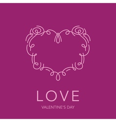 Heart Frame - Love Design for Valentines Day Logo vector image vector image