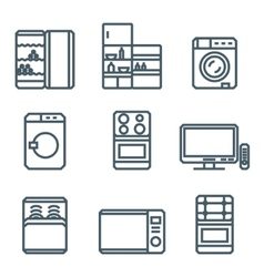 Home appliances modern linear modern concept vector image