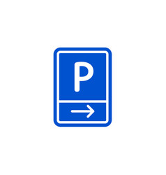 parking zone to right roadsign isolated vector image vector image