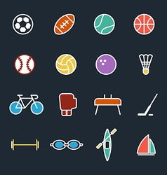 Set of sport icons flat design isolated vector image