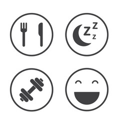 the four pillars of health healthcare icons set vector image vector image