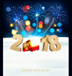 happy new year background with 2018 magic box and vector image vector image