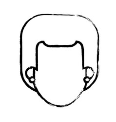 head faceless girl with earrings sketch vector image vector image