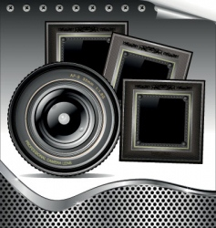 lens background vector image vector image