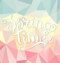 Spring time polygonal background vector image vector image