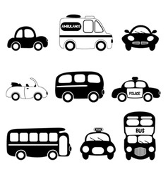 transportation vehicle vector image vector image