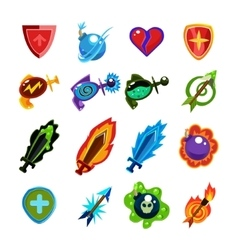Video Game Icons Set vector image vector image