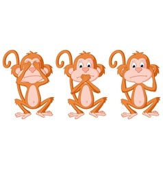 3 wise monkey pose vector image