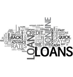 a guide to quick loans online text word cloud vector image