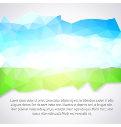 Abstract blue and green background vector