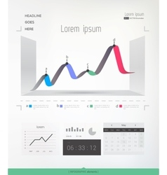 Abstract infographic graph vector image