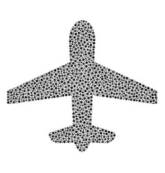 Airplane composition of small circles vector