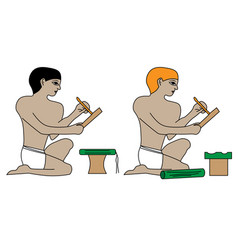 Ancient egypt scribes vector