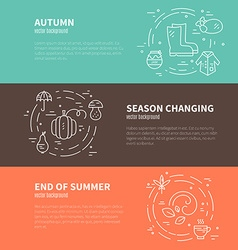 Autumn Banner Template vector image