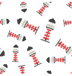 Beacon lighthouse seamless pattern background vector