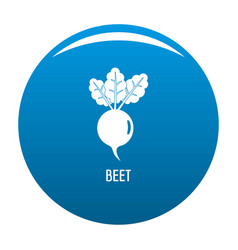 Beet icon blue vector