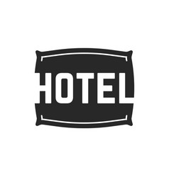 black hotel logo with pillow vector image