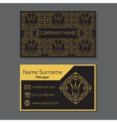 Business card editable template include front and vector image