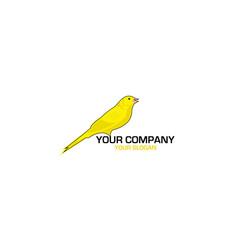 Canary bird logo design vector