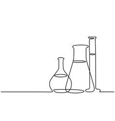 chemical lab retorts vector image