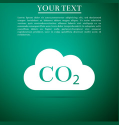 Co2 emissions in cloud icon on grey background vector