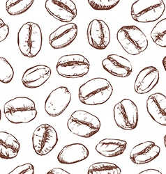 Coffee bean pattern including seamless vector image