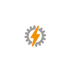 creative gear thunder logo vector image