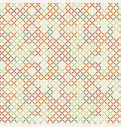 Cross stitch seamless pattern vector