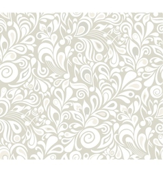Decorative musical floral theme vector image