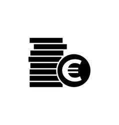 Euro coins simple icon vector image