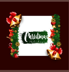 flat christmas background vector image