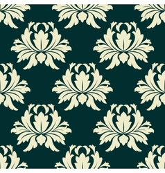 Floral seamless pattern with light green flowers vector image