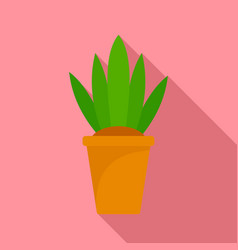flower pot icon flat style vector image