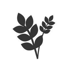Flower with leaf isolted flat icon vector image