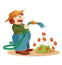 Gardener man vector image