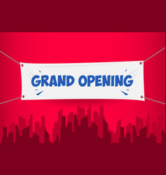 Grand opening banner template design vector