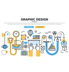 graphic design process vector image