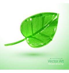 Green leaf vector