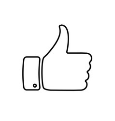hand with thumb up and like con for your design vector image