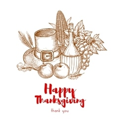 Happy Thanksgiving Holiday greeting card vector