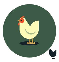 hen cartoon vector image