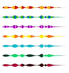 Horizontal line dividers set of colorful duotone vector
